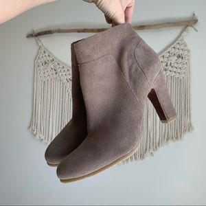 Naturalizer Taupe Suede Sierra Booties 7.5